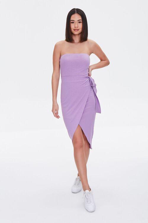 Ribbed Tulip-Hem Dress, image 4
