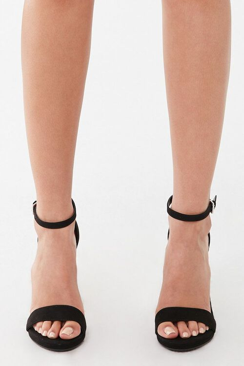 Faux Suede Stiletto Heels, image 4