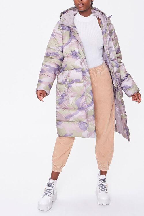 Longline Camo Puffer Jacket, image 1