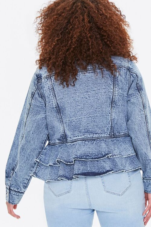 Plus Size Ruffled Denim Jacket, image 3