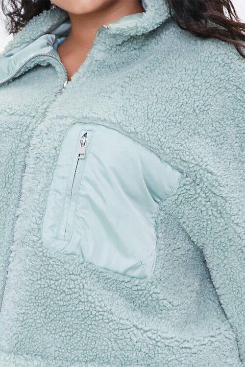 Plus Size Faux Shearling Jacket, image 5