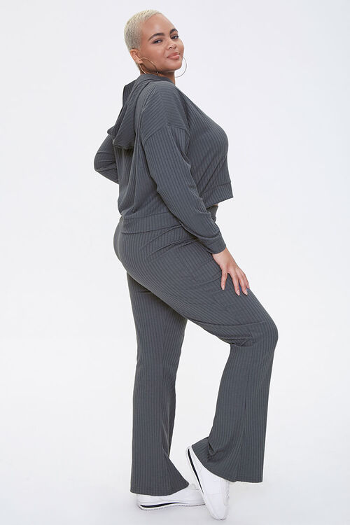 Plus Size Hooded Top & Pants Set, image 2