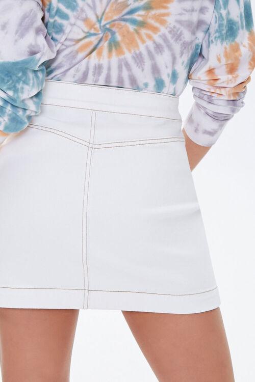 Button-Down Denim Mini Skirt, image 3
