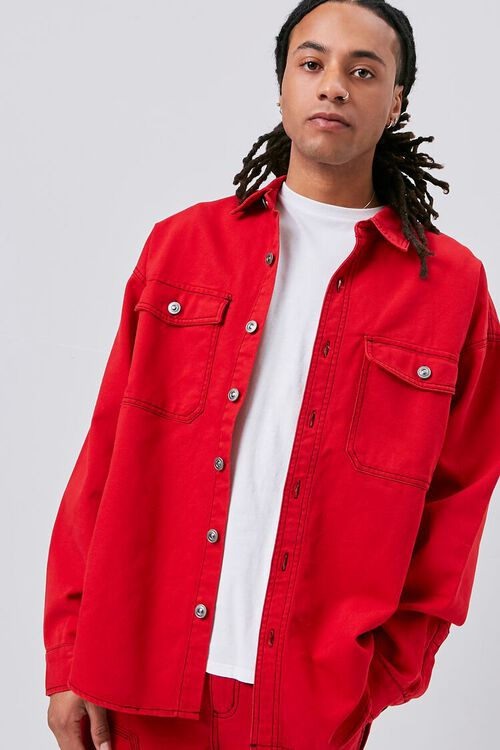 Buttoned Canvas Jacket, image 2
