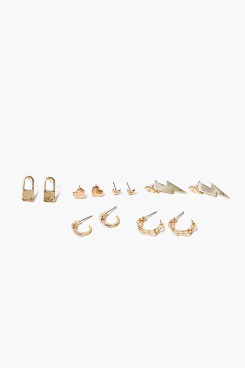 Thunderbolt Charm Stud Earring Set, image 1