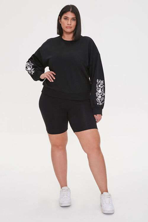 Plus Size Embroidered Floral Top, image 4