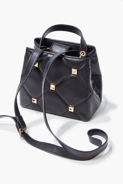 Studded Quilted Satchel, image 4