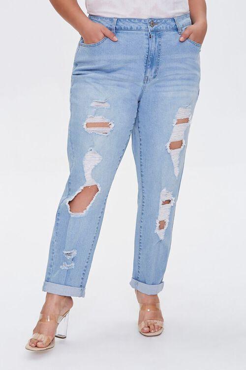 Plus Size Boyfriend Jeans, image 2