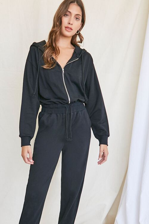 Hooded French Terry Jumpsuit, image 4