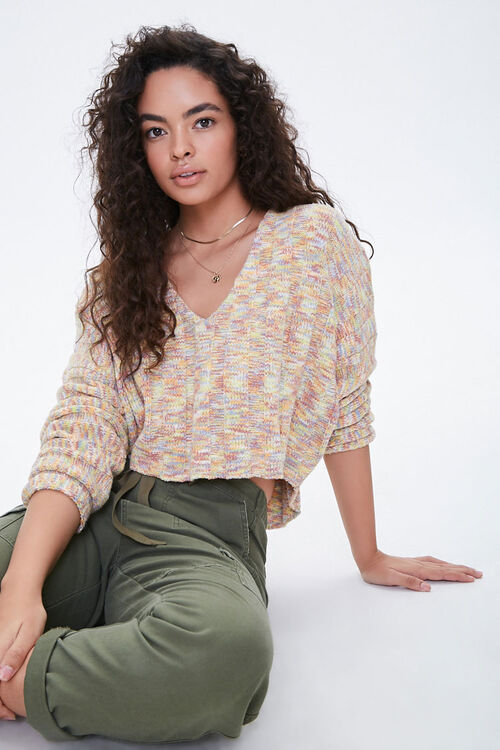 Marled High-Low Sweater, image 1