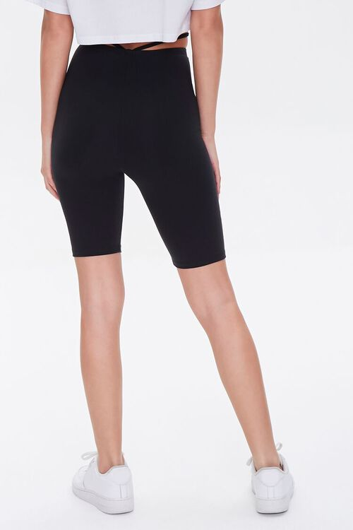 Strappy Cutout Biker Shorts, image 4