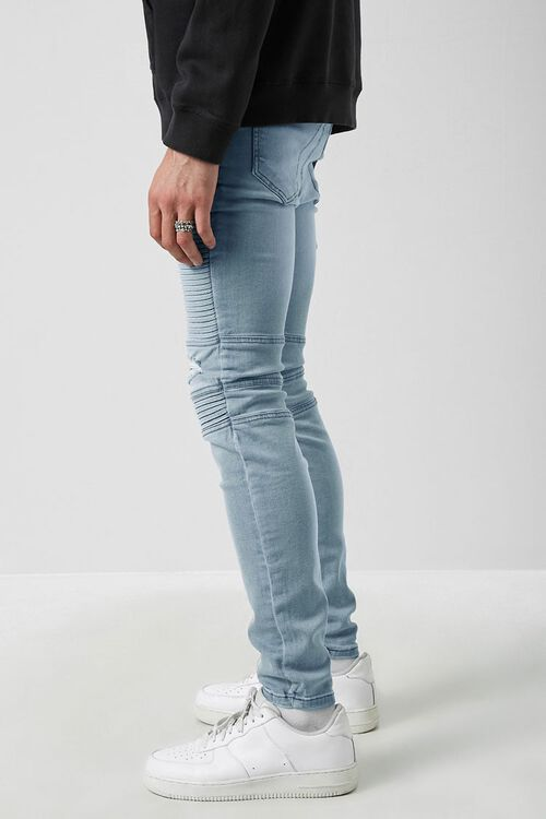 Distressed Moto Skinny Jeans, image 3