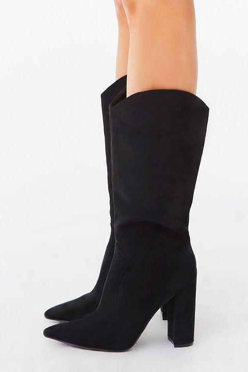 Faux Suede Block Heel Boots, image 3