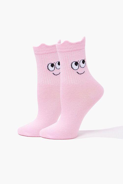 Cartoon Face Crew Socks, image 1