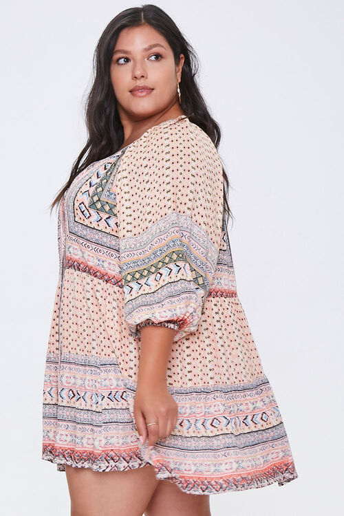 Plus Size Ornate Peasant Tunic, image 2