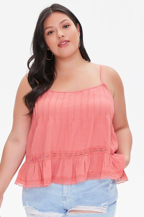 Plus Size Lace-Trim Cami, image 1