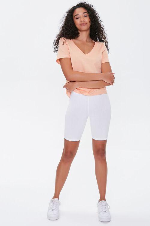 Cotton-Blend Biker Shorts, image 5