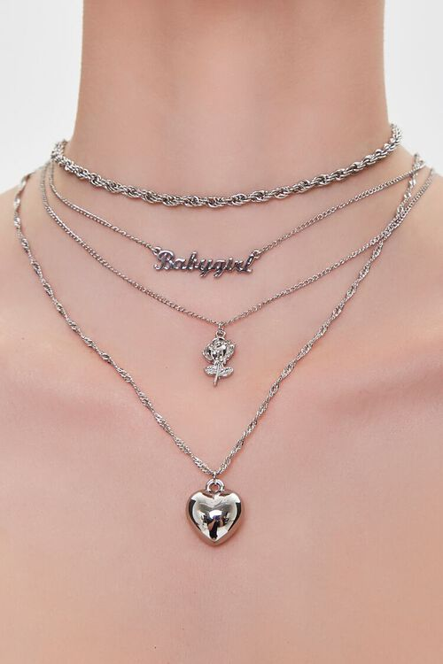 Heart Pendant Layered Necklace, image 1