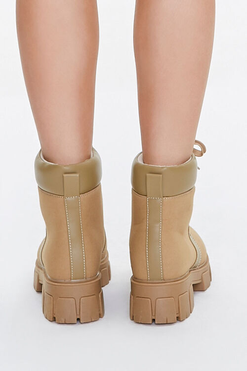 Lug Sole Lace-Up Ankle Boots, image 3