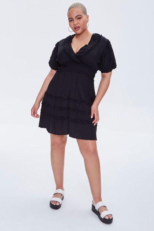 Plus Size Plunging Mini Dress, image 4