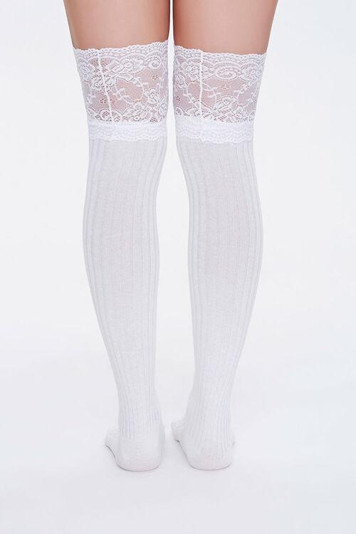 Lace Knee-High Socks, image 3