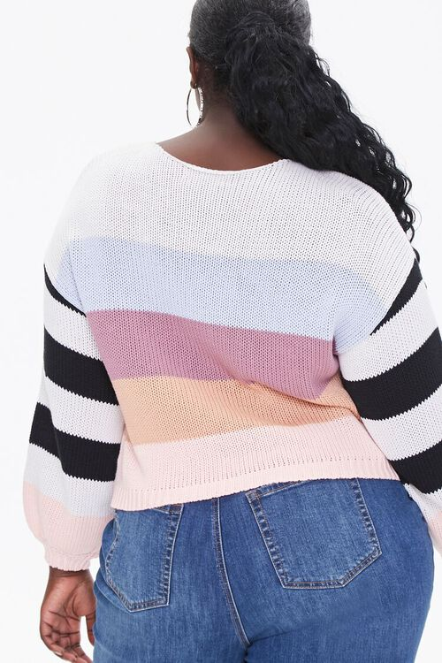Plus Size Striped-Sleeve Sweater, image 3