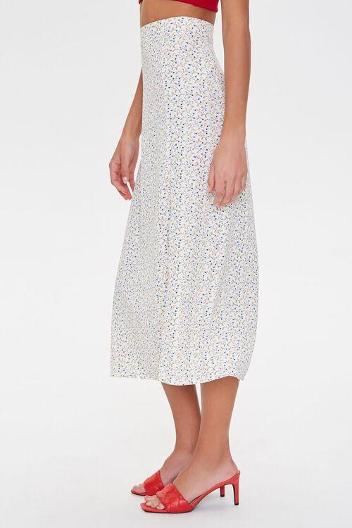 WHITE/MULTI Floral Midi Skirt, image 2