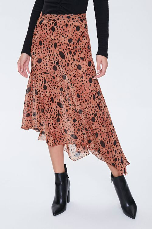 Spotted Flounce Maxi Skirt, image 2