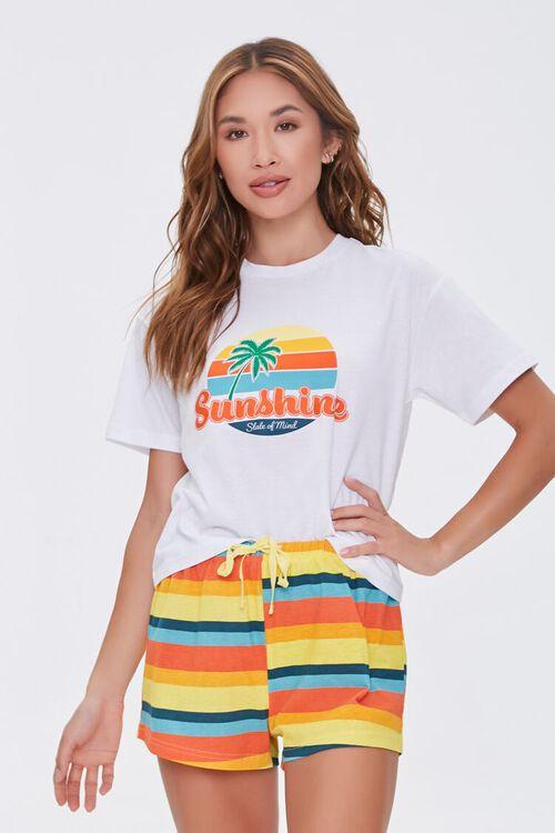 Sunshine Tee & Shorts Lounge Set, image 1