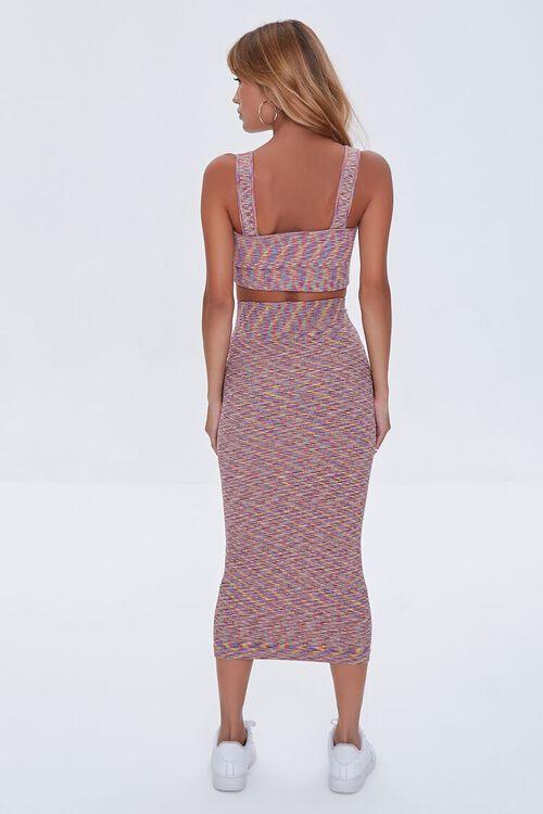 Heathered Crop Top & Skirt Set, image 3
