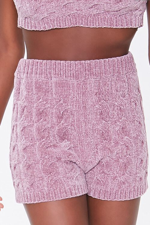 Sweater-Knit Chenille Shorts, image 2