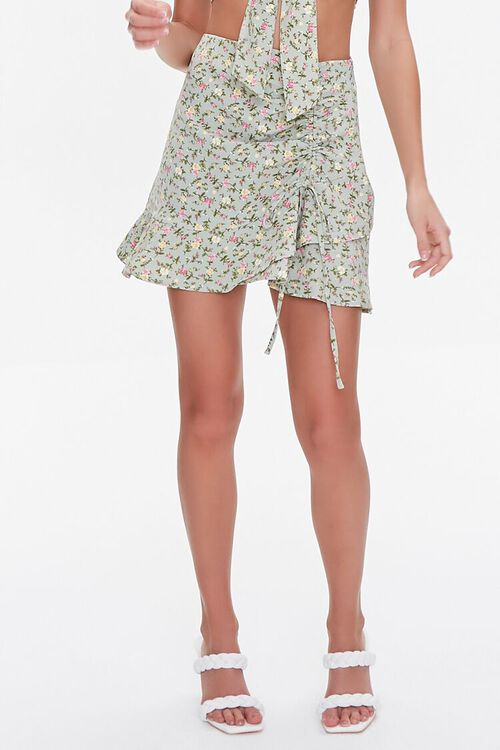 Floral Print Crop Top & Skirt Set, image 6