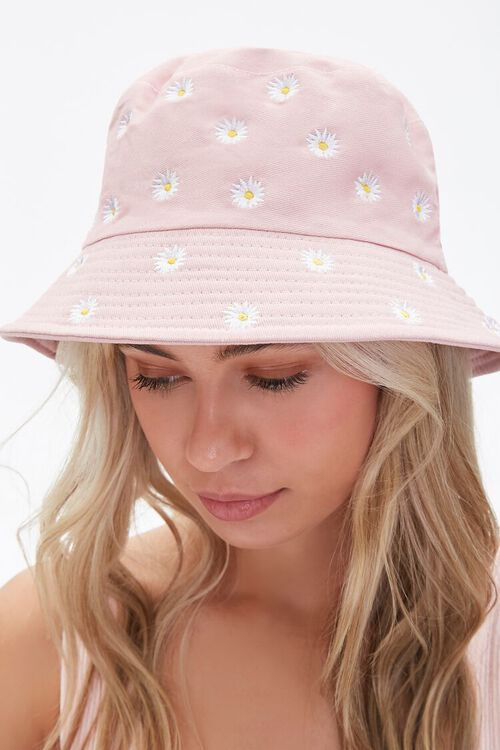 Embroidered Daisy Bucket Hat, image 2