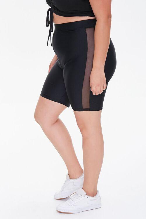 Plus Size Striped-Trim Biker Shorts, image 3