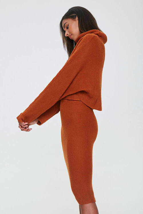 Sweater-Knit Top & Skirt Set, image 2