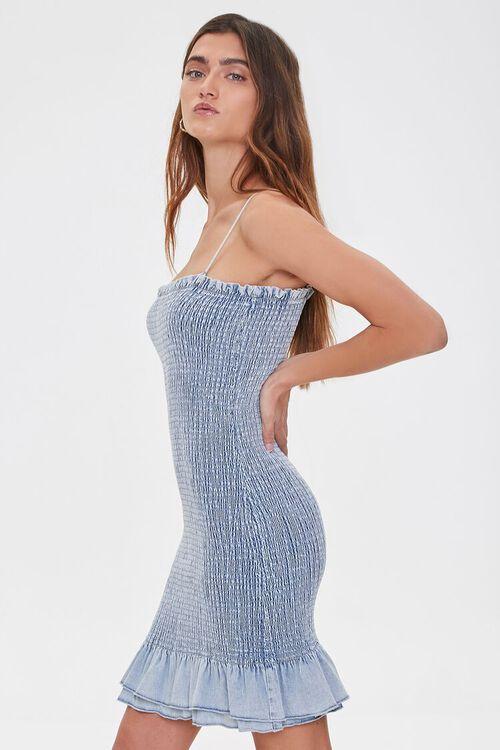 Smocked Bodycon Mini Dress, image 2