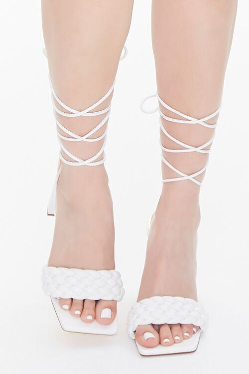 Braided Wraparound Block Heels, image 4
