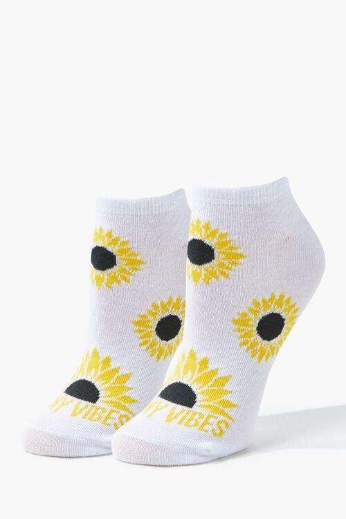 WHITE/MULTI Sunny Vibes Ankle Socks, image 1