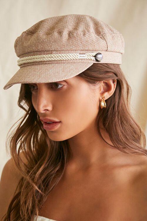 Rope-Trim Cabbie Hat, image 2