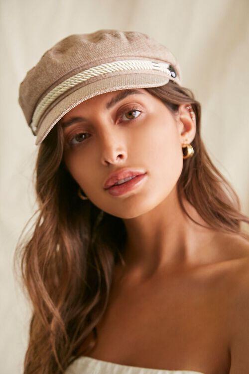 Rope-Trim Cabbie Hat, image 1