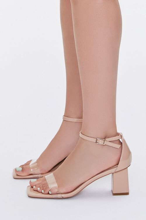 Faux Patent Leather Block Heels, image 2