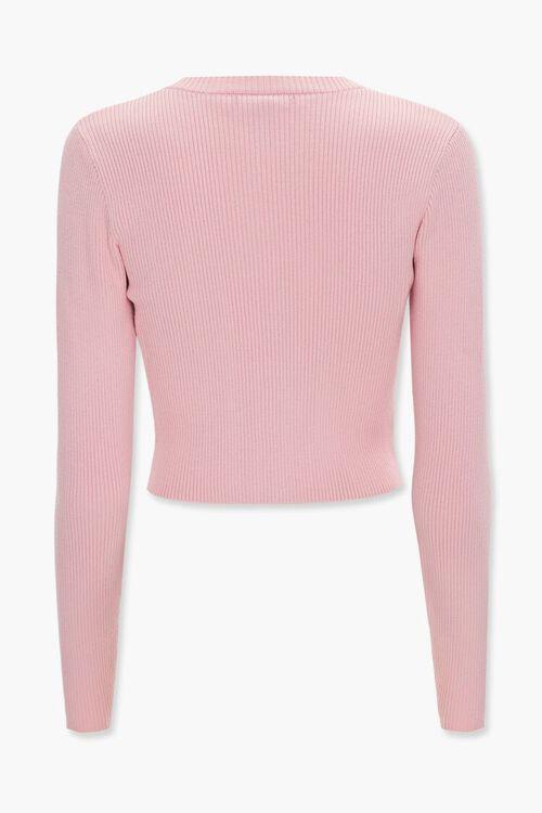 Ribbed Knit Cardigan Sweater, image 3