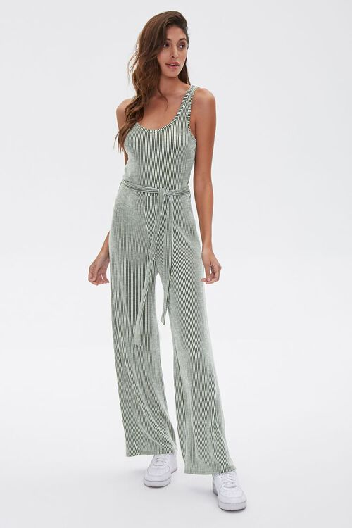 Ribbed Pinstriped Jumpsuit, image 1