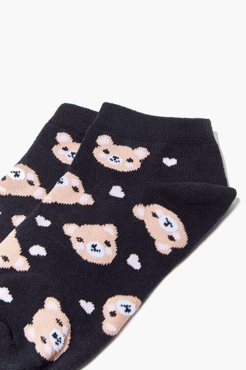 BLACK/MULTI Bear Print Ankle Socks, image 3
