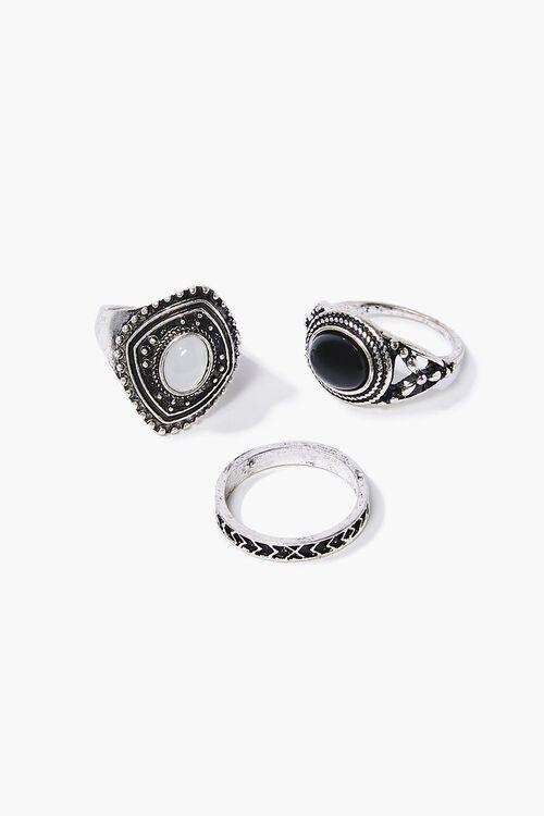 Faux Gem Ornate Ring Set, image 1