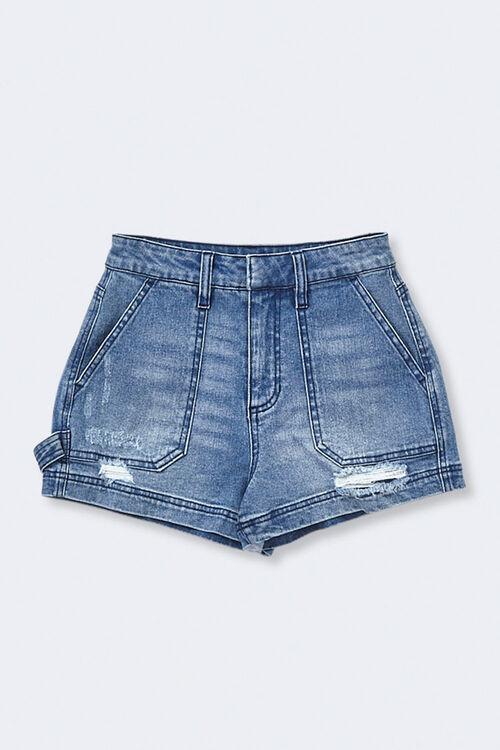 Mid-Rise Denim Shorts, image 1