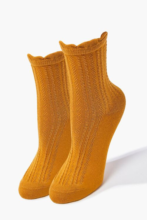 Scalloped Crew Socks, image 1