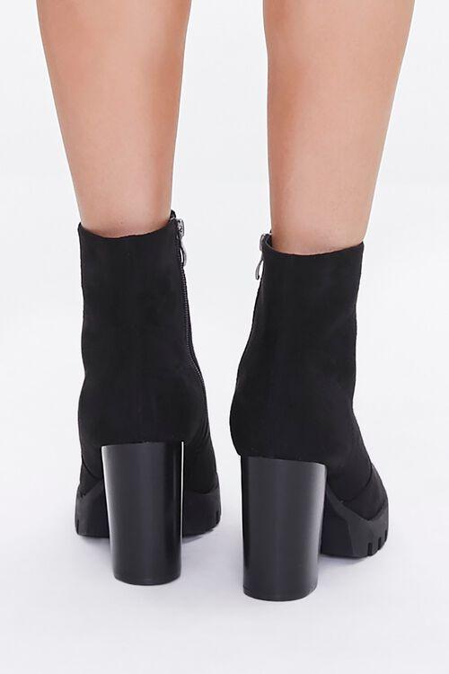 Velvet Block Heel Booties, image 3