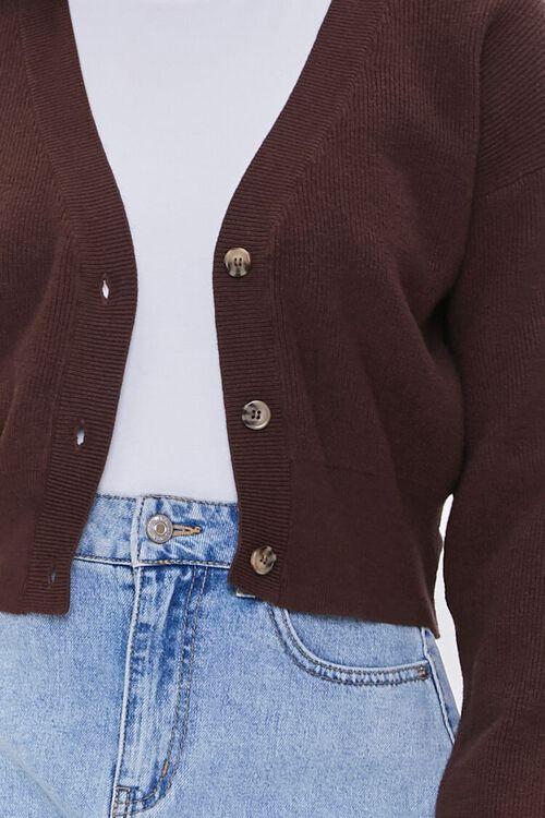 Ribbed Knit Cardigan Sweater, image 5