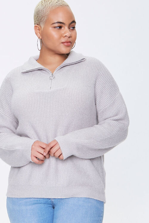 Plus Size Sweater-Knit Pullover, image 1